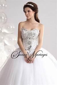 robe de mariee princesse et bustier strass sur mesures With robe mariee avec bijoux strass mariage