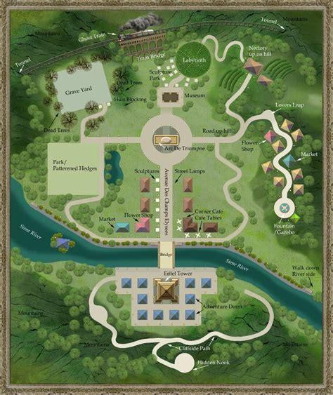 Champs Les Sims Map Concept Art
