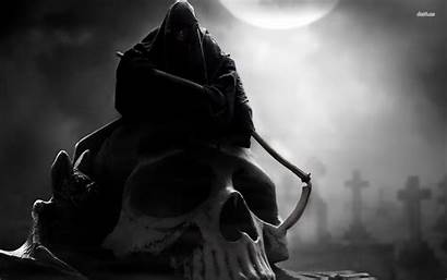Reaper Grim Wallpaperaccess Wallpapers Skull Sitting Giant