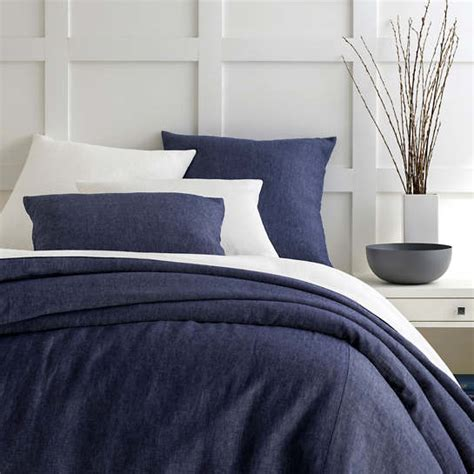 Chambray Linen Ink Duvet Cover  Pine Cone Hill