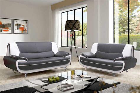 deco in canape 3 2 places gris et blanc marita marita