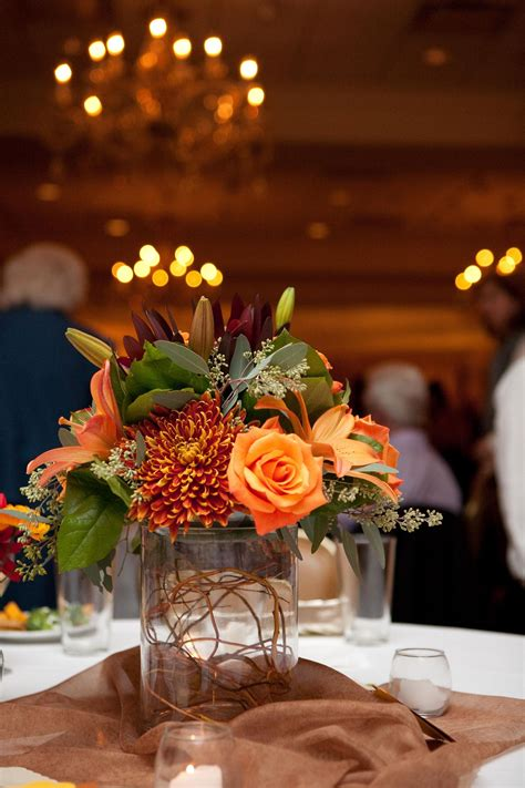 fall centerpiece   fall wedding flowers fall