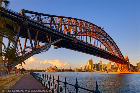 harbour bridge  sydney opera house  sunrise print