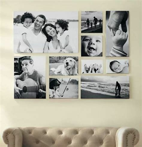 bilderwand selber machen fotowand selber machen wohnzimmer fotowand