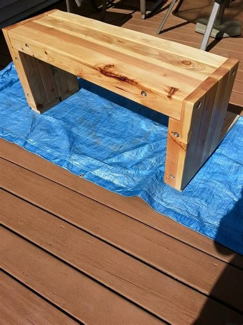 ana white rustic  bench diy projects