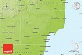 Physical Map of Iosco County