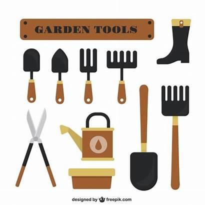 Tools Garden Vector Flat Hoe Vectors Freepik