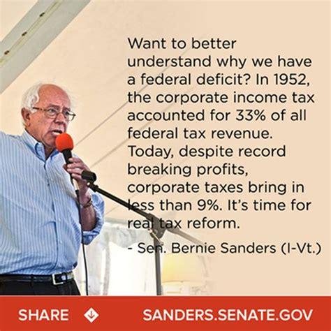 Pro Bernie Sanders Memes - bernie sanders says tax share paid by corporations has fallen from 33 to 9 since 1952 politifact