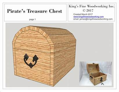 Chest Plans Treasure Pirates Woodworking Project Fine