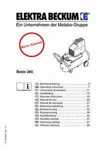 Compressor Pump Basic 265 Manuals