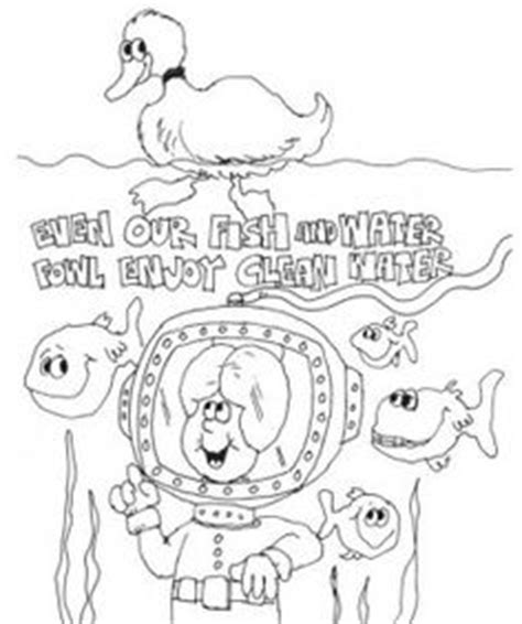 coloring page water pollution fall classroom pinterest