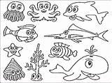 Coloring Pages Sea Preschool Underwater Getdrawings sketch template