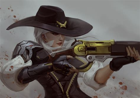 32 ashe overwatch ������ ����� wallpaper abyss