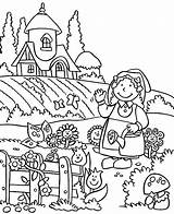 Coloring Garden Pages Gardening Lovely Spring Welcome Drawing Easy Tools Printable Fairy Preschool Getdrawings Getcolorings sketch template