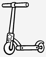 Scooter Coloring Nicepng Kick sketch template