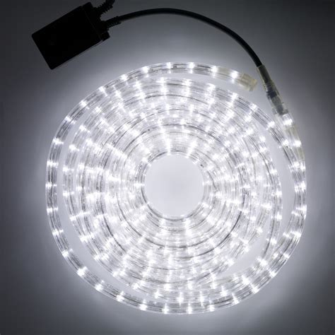 8m white led rope light indoor outdoor use lights4fun co uk
