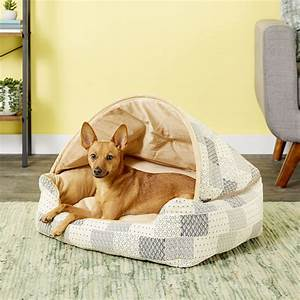 K, U0026h, Pet, Products, Hooded, Lounge, Sleeper, Pet, Bed, Tan