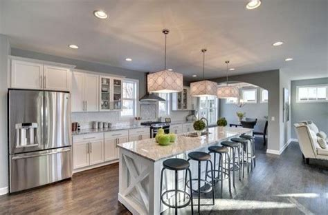transitional kitchen  glass panel breakfast bar