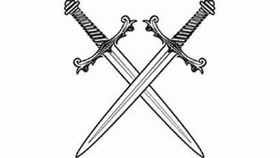 Sword Swords Crossed Roblox Fighting Coloring Transparent
