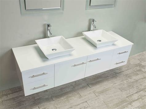 Totti Wave Inch White Modern Double Sink Bathroom