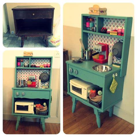 diy cuisine enfants vintage un vieux meuble r 233 cup 233 r 233 et relook 233 voil 224 une cuisine pour mes