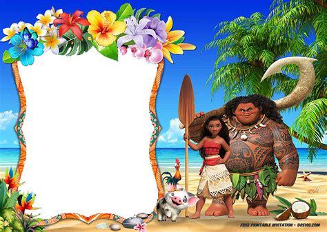moana template free moana birthday invitation template free invitation templates drevio
