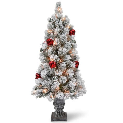 national tree company 3 ft snowy bristle pine tabletop
