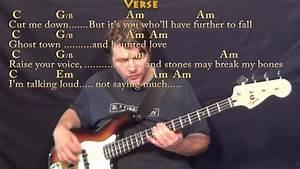 Titanium David Guetta Bass Guitar Cover Lesson In C With