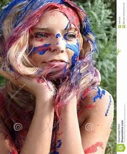 Peinture Visage Femme : le visage de la femme en peinture photographie stock image 15827532 ~ Melissatoandfro.com Idées de Décoration