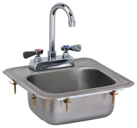 Small Drop In Bathroom Sinks by Ace 13 Quot X13 Quot Mini Stainless Steel Drop In Sink With