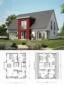 Modernes Haus Grundriss : modernes einfamilienhaus klassisch mit satteldach architektur zwerchgiebel haus bauen ~ Bigdaddyawards.com Haus und Dekorationen