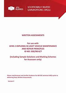 Imi Awards Level 3 Written Assignments By Adamlincoln