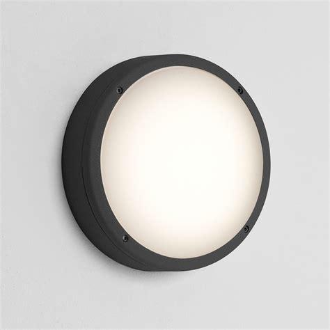 astro arta 275 round black outdoor wall light at uk