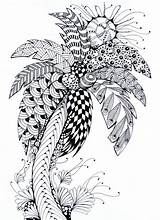Coloring Palm Tree Summer Pages Ete Stress Anti Therapy Coloriage Adulte Palme sketch template