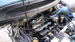 How To Change Spark Plugs Dodge Caravan 3 3l Engine Part 3 Rear Bank