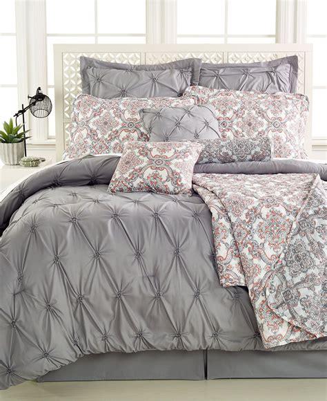 jasmine grey  pc queen comforter set bed   bag