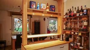 Bar Aus Holzpaletten : bar theke selber bauen ansicht auf tisch made by myself ~ A.2002-acura-tl-radio.info Haus und Dekorationen