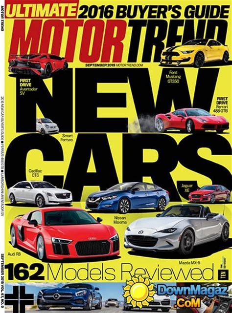 motor trend usa september    magazines