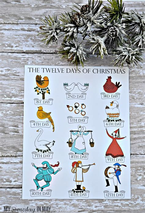 12 Days Of Christmas  Free Printable  Ella Claire