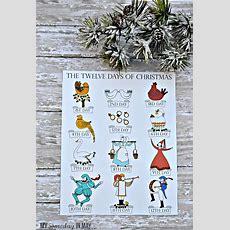 12 Days Of Christmas  Free Printable  Ella Claire