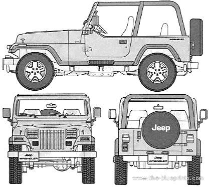 4 door jeep drawing the blueprints com blueprints gt cars gt jeep gt jeep wrangler