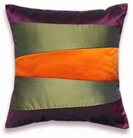 Olive Green and Orange Throw Pillows