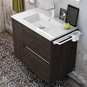 Porte Meuble Salle De Bain : meuble salle de bain 100 cm 2 tiroirs 1 porte plan c ramique code ~ Teatrodelosmanantiales.com Idées de Décoration