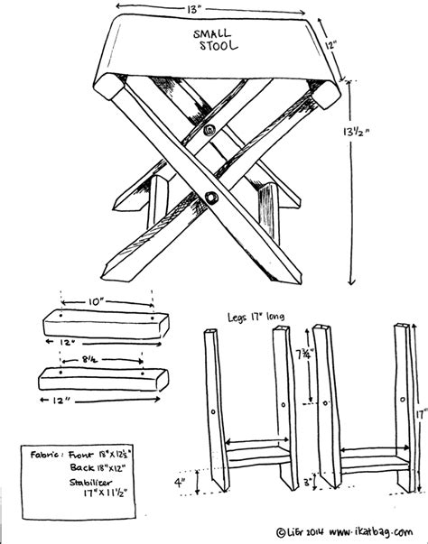 folding camp stool scouting diy