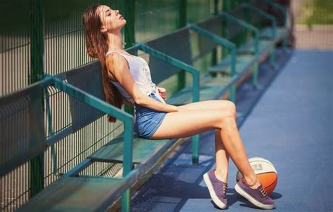 Wallpaper Girl, The Sun, Bench, Shorts, The Ball, Sneakers