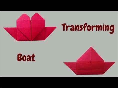 Origami Heart Boat by How To Make Origami Heart Boat Love Boat Valentine Craft