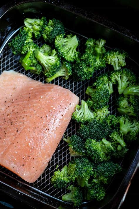 fryer air broccoli salmon recipe recipes needed ingredients airfryer fried