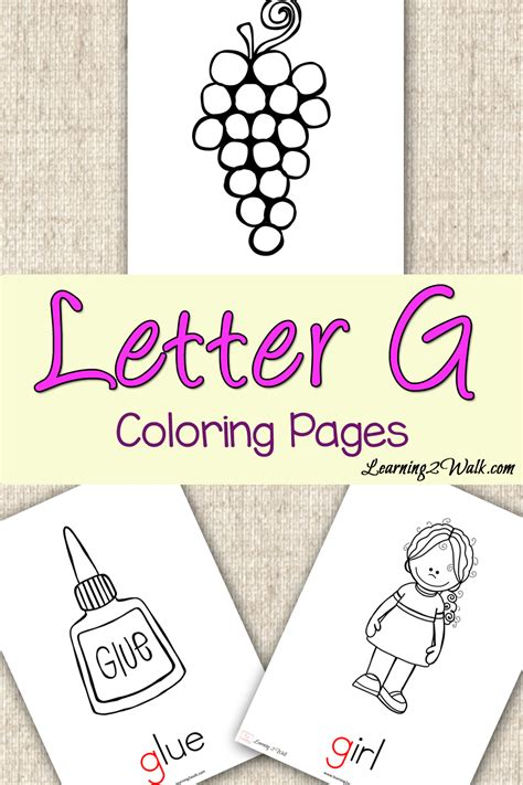 preschool letter activities letter g coloring pages 556 | Preschool Letter Activities Letter G Coloring Pages pin