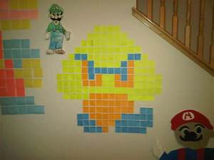 Post It Art : gumba post it note wall art super mario a piece of post it art decorating on cut out keep ~ Frokenaadalensverden.com Haus und Dekorationen