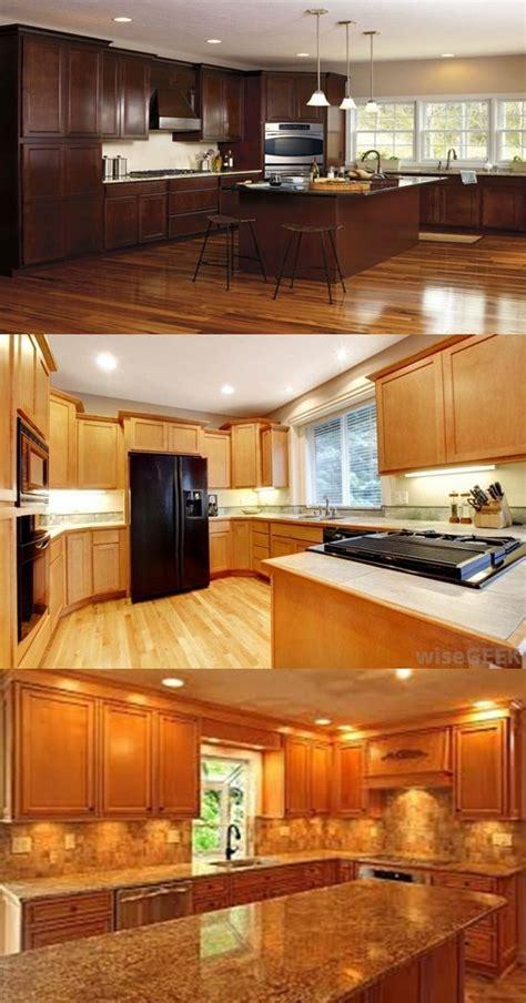 types  wood  kitchen cabinets interior design